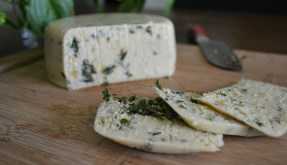 Pesto Cashew Cheez.  One year ago today on the blog.