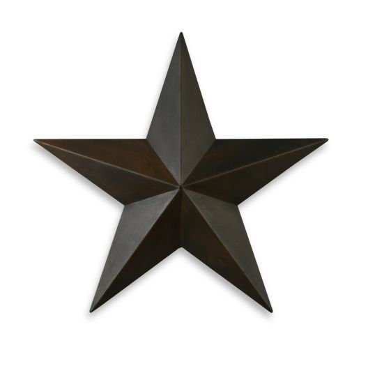Rustic metal star wall sculpture home decor texas country for Star decorations for home