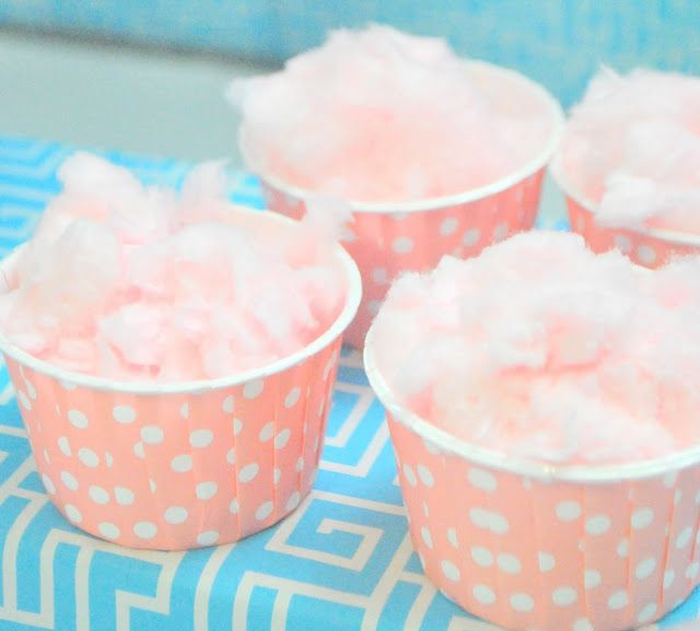Having mini cotton candy sticks or cups is an awesome kid-friendly food.  They'll have a ball eating it and most of all  playing with it.  Remember to keep the amount to a minimum.  We don't want them getting a sugar-high!