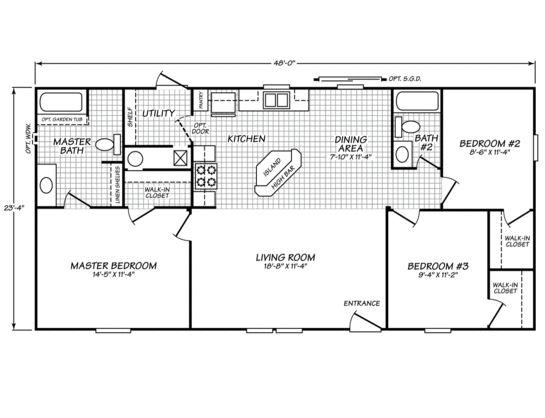 Sandalwood ltd 24483n fleetwood homes fleetwood homes of for Home designs ltd