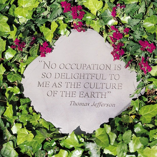Landscape Rock Quote : Garden stepping stone quotes quotesgram