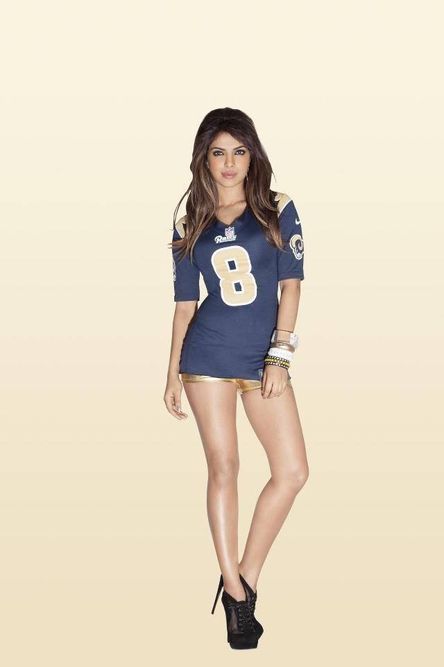 priyanka chopra   nfl 2012 kickoff babe sexy sports uniforms pint