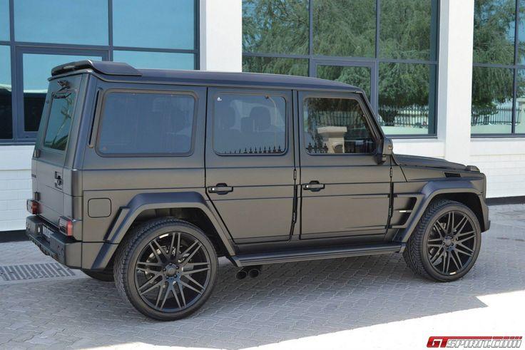Matte black brabus widestar g55 amg trucks i want for Mercedes benz jeep matte black