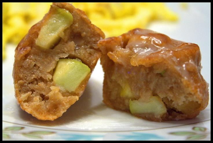 Homemade apple fritters