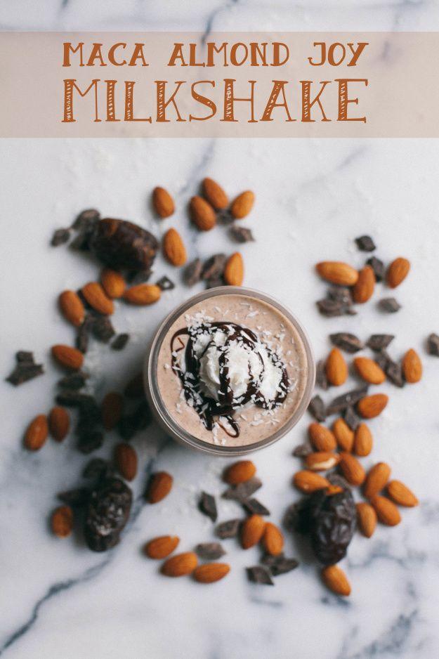 Vegan Maca Almond Joy Milkshake