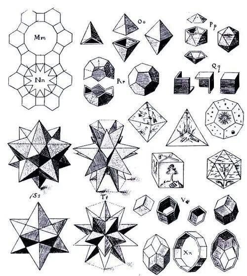 Platonic solids and friendsPlatonic Solids Art