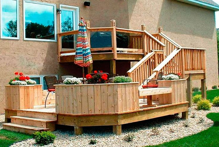 Tiered Backyard Decks : Tiered Deck  Decking ideas  Pinterest