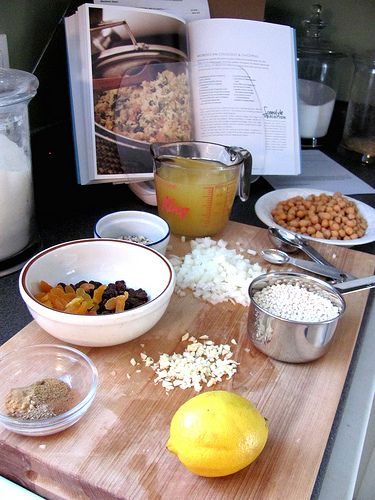 moroccan couscous & chickpeas | recipes | Pinterest