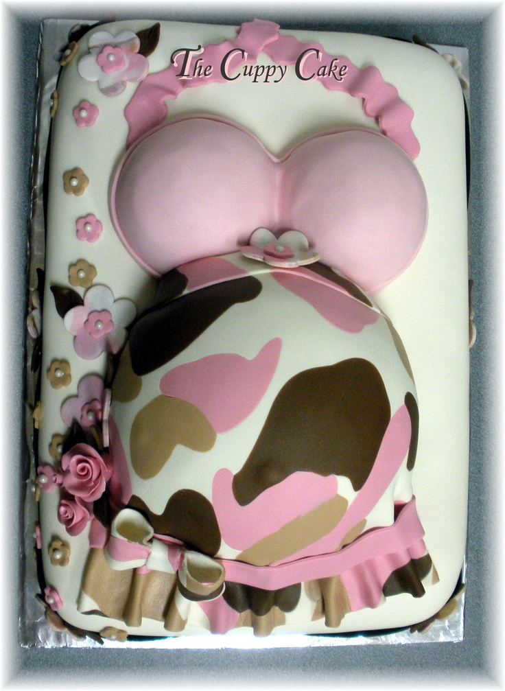 pink camo belly cake the cuppy cake creative designs https www