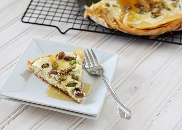 Recipe: Orange Pistachio Cheesecake in Phyllo