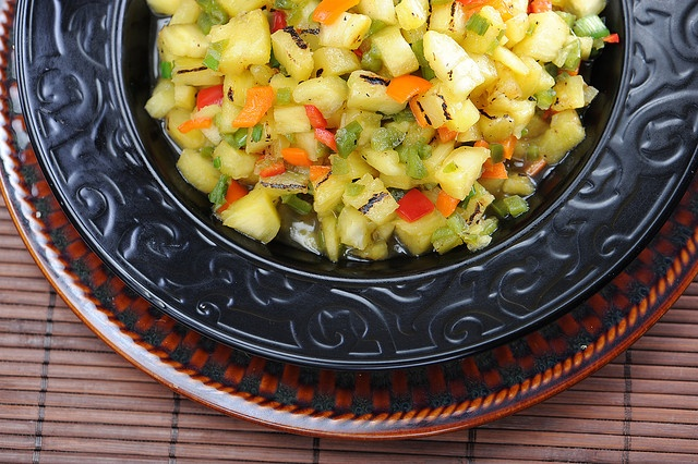 Grilled Pineapple Mango Salsa | Appetizers | Pinterest