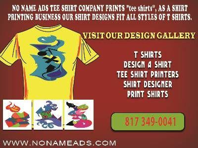 No name ads custom t shirts nonameads pinterest for Custom t shirt company