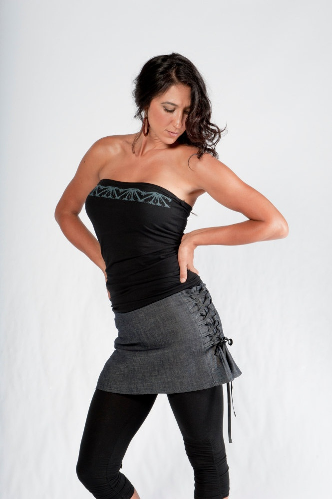 Laceup Mini Skirt women's clothes fashion womens by aurorawear1, $45