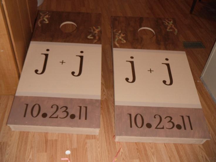 Wedding Cornhole Boards Wedding Ideas Pinterest