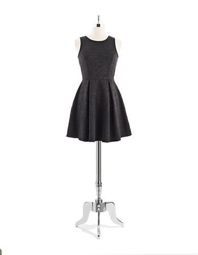 Party cocktail fit and flare unhemmed dress lord and taylor