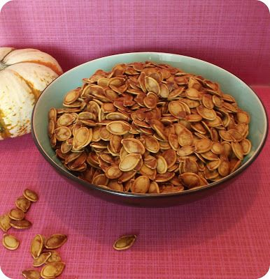 vegan sweet and salty roasted pumpkin seeds