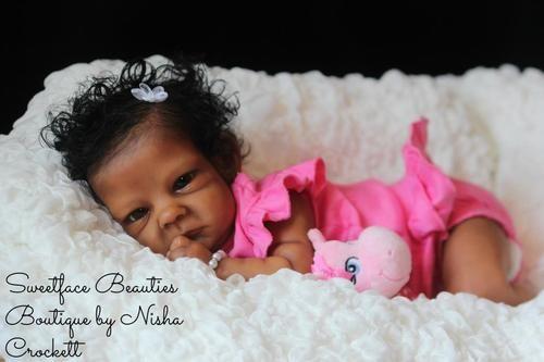 Stunning ethnic aa biracial baby girl quot sally quot prototype by bonnie bro