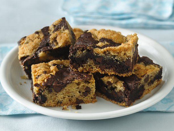 Cookie-Brownie Bars #GlutenFree
