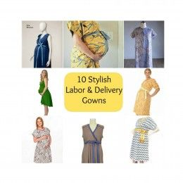 style sylish labor delivery gowns