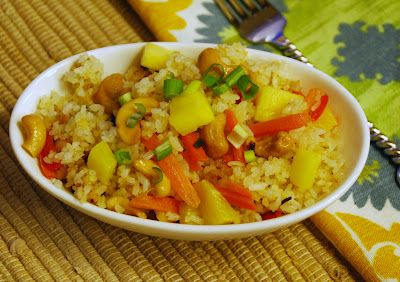 Ginger, Pineapple, Cashew Fried Rice | Food | Pinterest