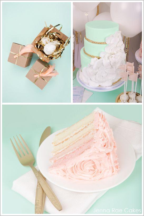 Peach Birthday Dessert Table