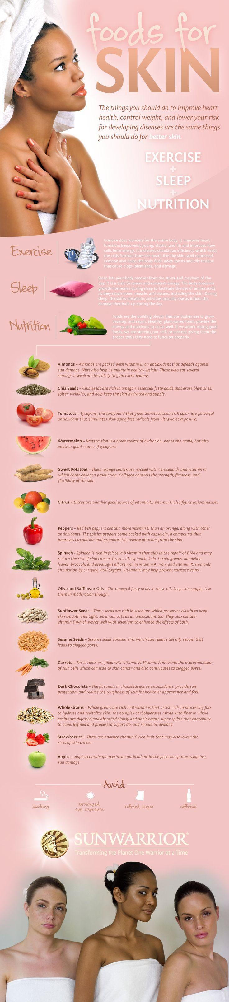 Foods for healthier radiant skin