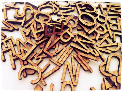 laser cut letters me gustan las letras pinterest With laser cut letters