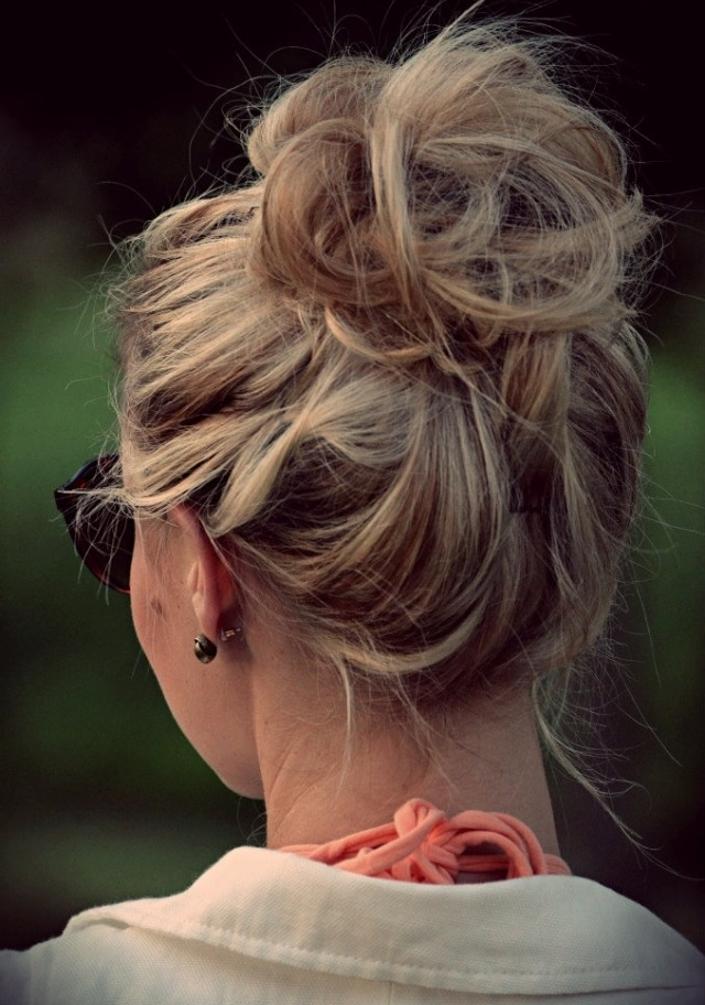 cute mixed girl hairstyles : Cute messy bun Perfect Hairstyles Pinterest