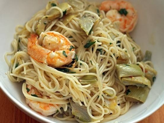 Shrimp Scampi With Artichokes   Beautiful Things   Pinterest