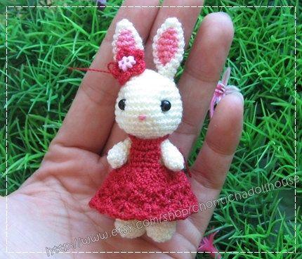 Mini Rabbit - 2.75 inches amigurumi crochet doll - READY ...