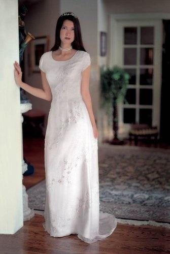 Wedding Dresses For Over 55 : Silk informal bridal gown wedding dress pretty for