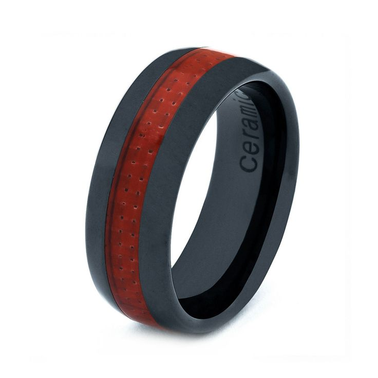 Ceramic Wedding Band Men Ceramic Rings Mens Wedding by GiftFlavors,  ...