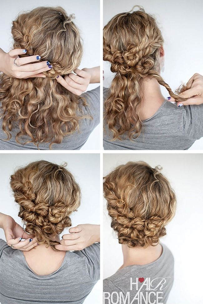 Прическа для девочки в домашних условиях из кудрявых волос