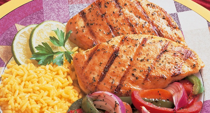 ... Southwest seasonings, these chicken breasts go well with Mexican rice