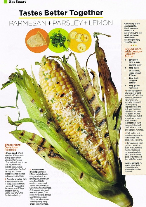 Corn with Lemon-Parsley Butter Three More Delicious Recipes: Pasta ...