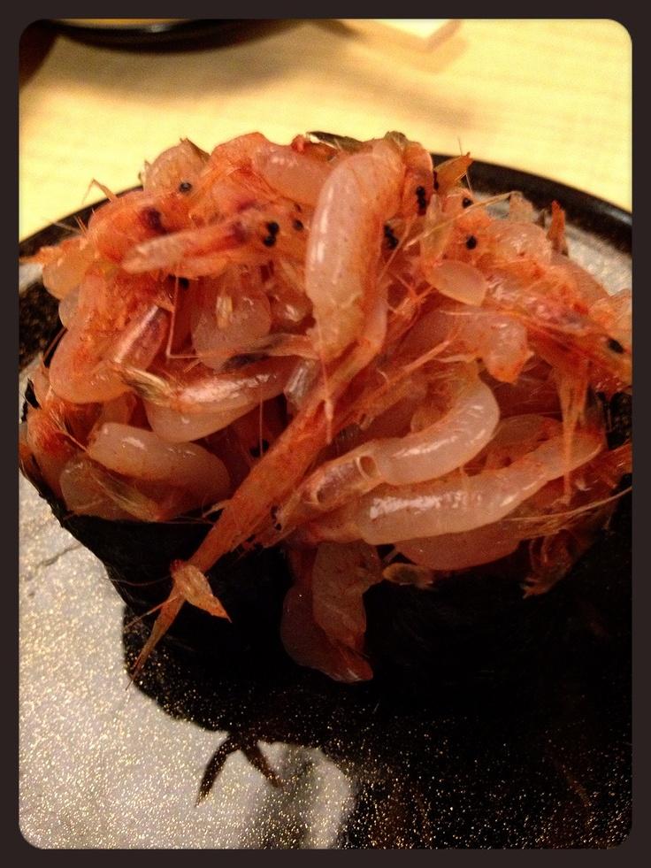 桜えび軍艦すしSakura Ebi Gunkan Sushi. | Asian Food | Pinterest