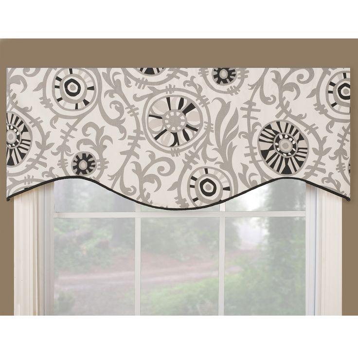 Soho Black Modern Window Valance | Soul Kitchen | Pinterest