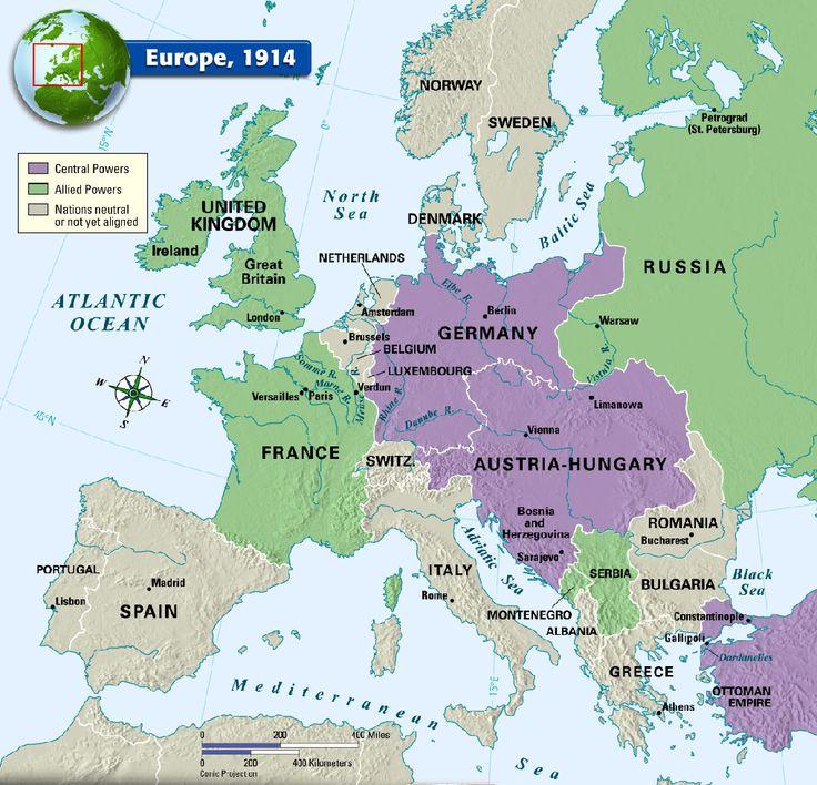Europe 1914 History Pinterest