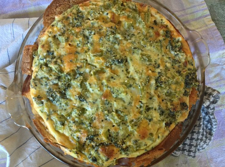 Simple Broccoli Cheddar Quiche | Food =) | Pinterest