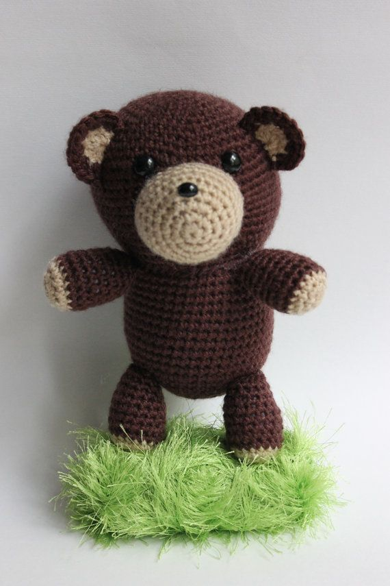 Crocheted Stuffed Animal, Crochet Stuffed Teddy Bear, Crochet Amiguru ...