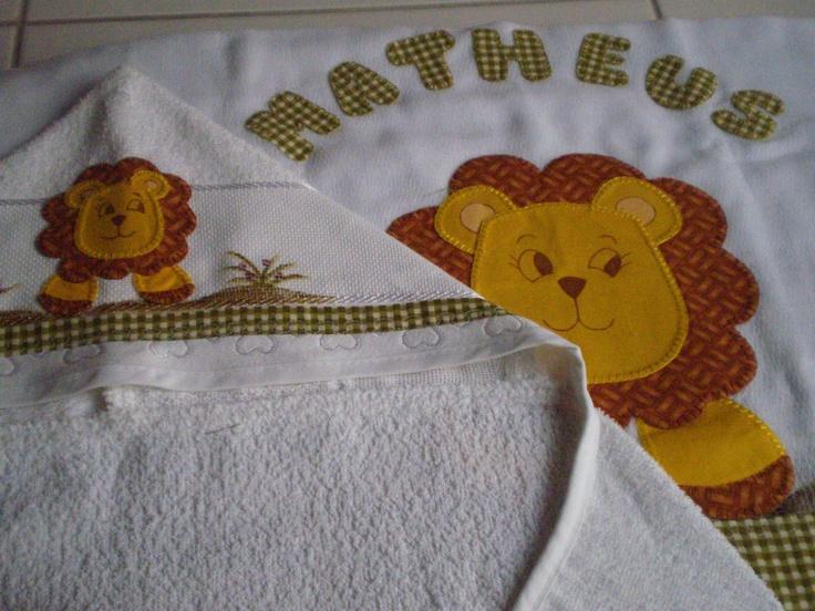 Joguinho de toalha infantil. <3