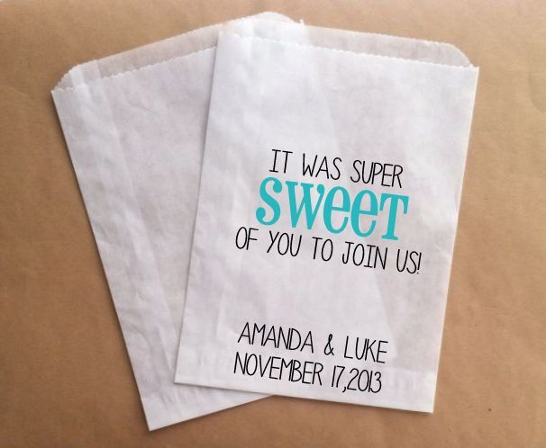 Wedding Candy Bags Favor Bags for Wedding Guests Sweet of You to Join ...