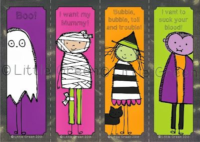 FREE Sweet and Spooky Bookmarks