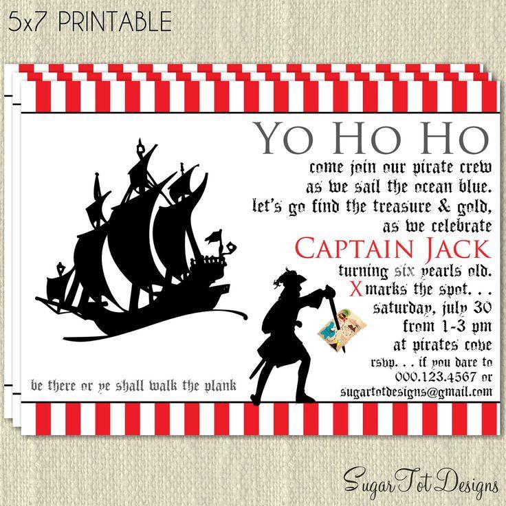 Similiar Pirate Birthday Invite Ideas Keywords – Pirate Birthday Invite