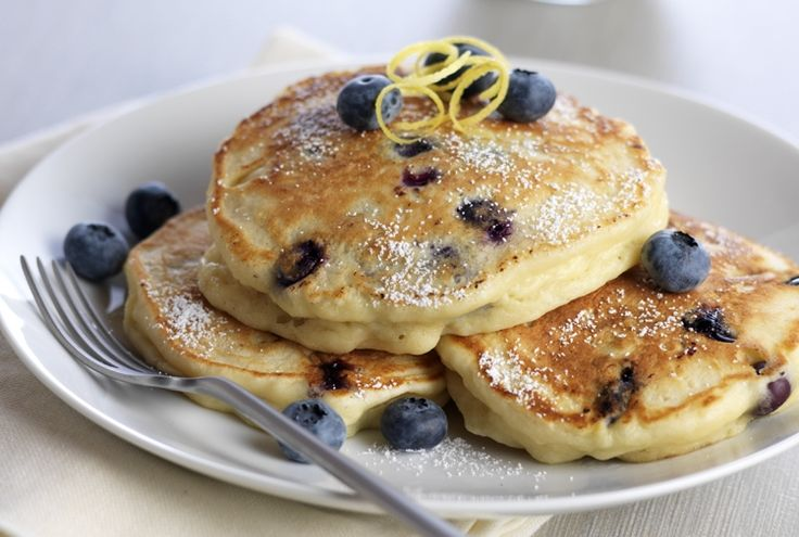 Lemon Ricotta Blueberry Pancakes | Recipes • Vegetarian | Pinterest