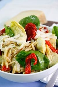 Spring Recipes: Whole-Wheat Orzo Pasta Salad with Artichokes, Spinach ...