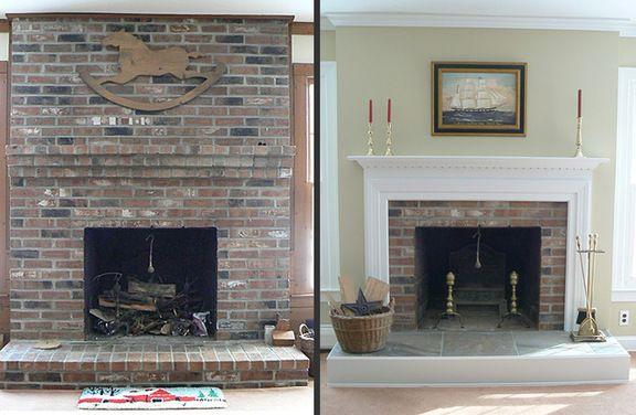 Fireplace Update Houzz Fireplaces Mantels Pinterest