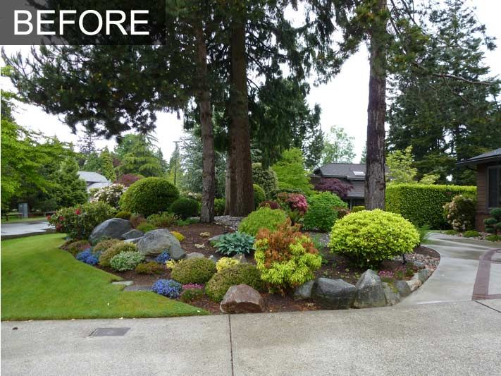 Landscaping landscape ideas for front yard low maintenance for Front yard landscaping