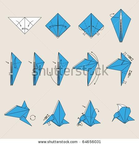 Origami crane instructions for Origami bird instructions