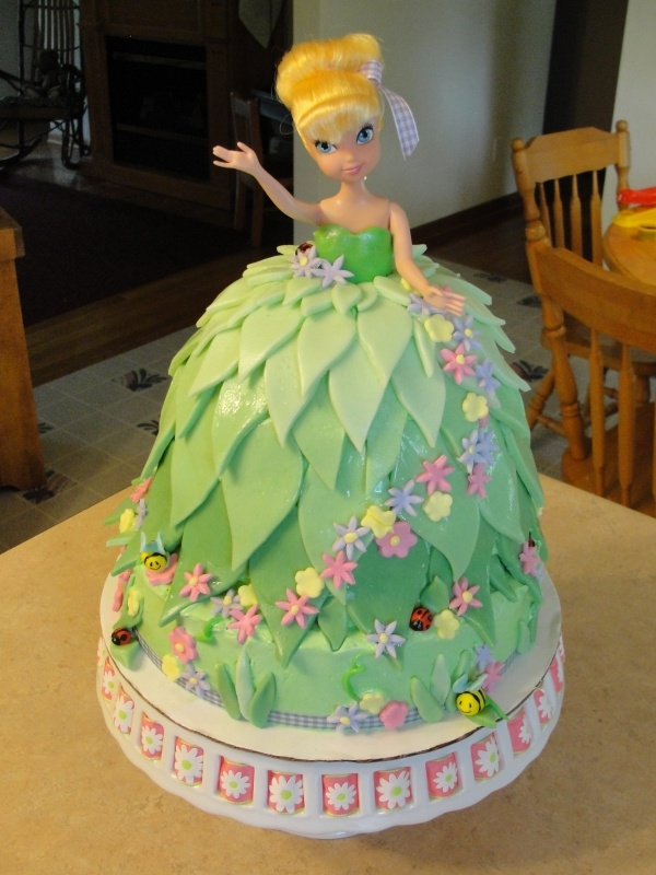 tinkerbell tink tinkerbelle doll cake